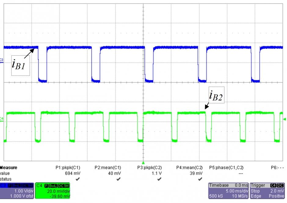 Oszillogramm des asynchronen Betriebs